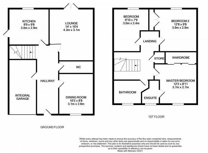 Floorplan for Lloyd Grove, Shifnal